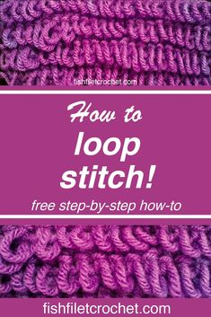 How to Crochet the Loop Stitch! 2019 Unwind with the loop stitch! Feel the calming effect of the hook and yarn in your hands as you enter the creative zone! The post How to Crochet the Loop Stitch! 2019 appeared first on Yarn ideas. Finger Crochet, Finger Knitting, Arm Knitting, Knitting Stitches, Knitting Kits, Loop Stitch Crochet, Tunisian Crochet, Crochet Stitches For Beginners, Crochet Stitches Patterns