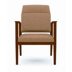 Lesro Amherst Motion Chair with Extended Back Fabric: Renaissance - Cobblestone, Frame Finish: Black