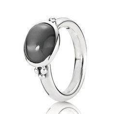 Pandora Grey Moonstone Ring. This ring is technically discontinued but the plu number is 190156MSG and your pumpkin would want one for her middle or index finger if possible so the size 60