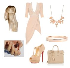 """going to church!!"" by camicartaleon ❤ liked on Polyvore featuring Christian Louboutin, Boohoo, New Directions, Lana Jewelry and Yves Saint Laurent"