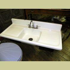 vintage porcelain sink vintage porcelain over cast iron kitchen sinks and farm house sinks - Porcelain Kitchen Sink