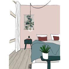 Histor kleur van het jaar Quiet Clearing. Een mooie groene kleur, subtiel toegepast in het interieur met roze op de muur. Pantone, Pastels, Color, Decoration, Decor, Colour, Decorations, Decorating, Dekoration