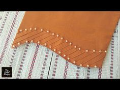 Design Discover Useful trouser design for lawn suit Kurti Sleeves Design, Sleeves Designs For Dresses, Kurta Neck Design, Neck Designs For Suits, Blouse Neck Designs, Sleeve Designs, Stylish Dresses For Girls, Stylish Dress Designs, Embroidery Designs