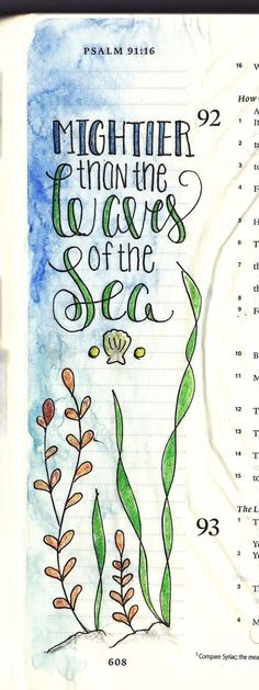 Simple Bible journaling ideas for beginners! I love this illustration for Psalm (Cool Paintings For Beginners) Bible Study Journal, Scripture Study, Bible Art, Art Journaling, Scripture Journal, Bible Journaling For Beginners, Book Art, Bible Prayers, Bible Scriptures