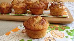 Twittear Estos muffins son una verdadera delicia :-) Son esponjosos y están llenos de trocitos de manzana aromatizada con ... Minnie Cupcakes, Cupcake Cookies, Sweet Cooking, Fun Cooking, Croissants, Pie Pops, Deli Food, Pan Dulce, Great Desserts