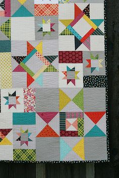 Starfall Quilt, via Flickr.