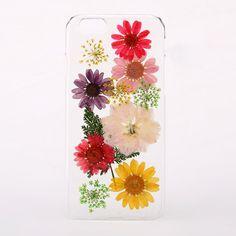 Pressed multi flower phone case for iPhone & Samsung   hardtofind.