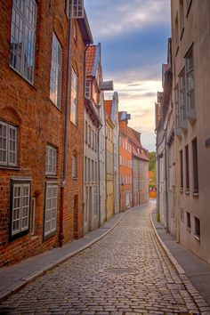 """""""Lubeck Alley"""".. an old street in the old town in the Hanseatic city of Lübeck. By MatkirschPhoto Own a Fine Art Print: https://www.etsy.com/listing/44548634/lubeck-alley-fine-art-photography-print"""