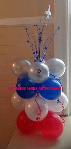 Winnipeg Jets theme party balloons