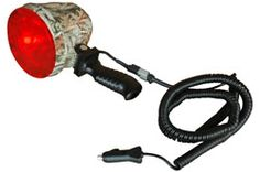 The Magnalight HUL-18-HID-RED-C Camouflage Spotlight is a rugged and effective HID spotlight designed to provide users with a powerful, durable, and easy to use source of reliable light. This spotlight has a 35 watt HID bulb which produces a light beam approximately 2400' long by 80' wide, use of the red lens knocks down the beam to 1600' long. This spotlight includes a detachable 16 foot coil cord with cigarette plug and a removable adhesive backed red lens for hunting use. $289.00