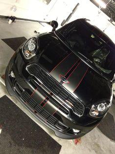 ... Countryman matte black sport stripes ...
