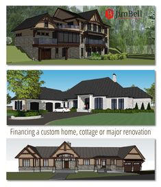 One of the most important aspects of building a custom home or cottage is the ability to finance the project. If you have questions about how mortgages for custom builds are different from typical home financing, take a look at our article, Custom Home Designs, Custom Homes, Home Financing, Commercial Architecture, Waterfront Homes, Home Renovation, Architecture Design, Finance, House Design