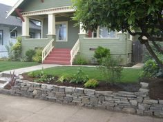 Stacked Stone Retaining Walls - Superwonderful Garden Design