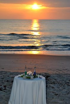 Sunrise beach wedding