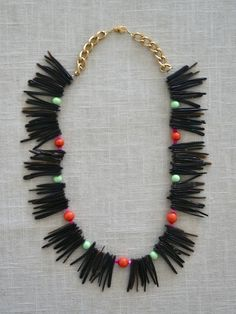 Balboa Jewelry- Brown Spike Necklace