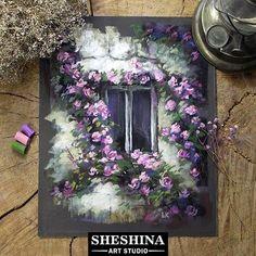 """С началом творческой недели, друзья! Во вторник порисуем каменную стену тронутую временем, окно с потрескавшейся краской, которое расположилось в тени прекрасного куста плетистой розы. И кажется, что аромат её цветов слышно даже через закрытые ставни! Романтичная экспрессия. Видеоурок в реальном времени! Как Вам такой сюжет? Захотелось порисовать? _____________________________ Рисуете со мной - ставьте #draw_with_sheshina _____________________________ Шешина Екатерина этюд """"Плетист..."""