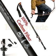 Adjustable-Trekking-Pole-Hiking-Sticks-Alpenstock-Anti-Shock-100-Carbon-Fiber