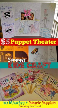 One Savvy Mom™ | NYC Area Mom Blog : DIY Puppet Theater - Fun & Frugal Summer Kids Craf...