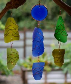 Sea Glass Driftwood Suncatcher Sun Catcher Framed