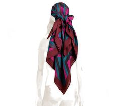 """Hermes cashmere and silk shawl, hand rolled, 56"""" x 56"""""""