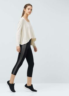 Yoga - slimming effect yoga leggings | MANGO