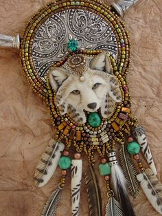 RESERVED FOR BETTINA Arctic Fox Necklace by HeidiKummliDesigns