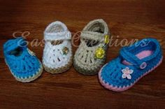 Chubby Feet Mary Jane Baby Shoes PDF Crochet Pattern by Easy Creations