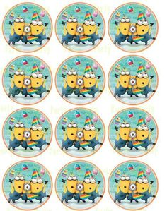 Curious George Cupcake Topper - Stickers GoPartyFiesta