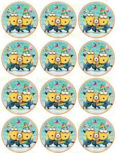Curious George Cupcake Topper - Stickers GoPartyFiesta