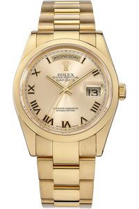 PRE-OWNED ROLEX 18K Yellow Gold Day-Date Automatic