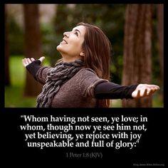 1 Peter 1:8 KJB