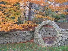 LOVE the stones & circle arch!!!