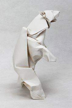 "polar bear, via Flickr. More stuff: Origami ""Double Star Flexicube"" by David Brill (Part 1 of 3) , Origami Moving Cubes 2 - using Sonobe units"