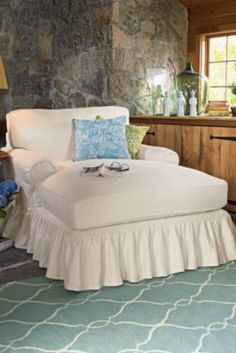 Home Decor | Soft Surroundings I wouold swap out the ruffled skirt for a tailored one