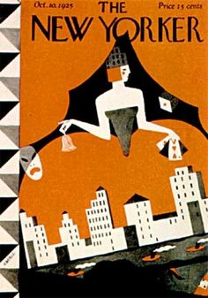 Ilonka Karasz : Cover art for The New Yorker 34 - 10 October 1925