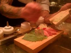 Toro and fresh wasabi from Chef Chao   A photo of Union Sushi + Barbeque Bar   Added by @Elizabeth Ryder