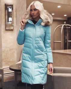"""Alena Shishkova - """"Here is the middle of the autumn🍂, the winter frost is not far off, which means it's time for a down jacket in @fluff_style, because I wear only high-quality and stylish things стильн Luxurious and delicate mint color is my favorite this season, though. .. I think that there are no many down jackets))) 😉, especially @fluff_style this year offers an incredibly generous palette of color solutions 👍🏼🎨😍"""" Alena Shishkova, Mint Color, Platinum Blonde, Supermodels, Winter Jackets, Glamour, Stylish, Frost, How To Wear"""