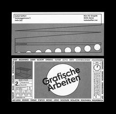 Isabel Seiffert Büro für Graphik Schöneggstrasse 5 8004 Zürich