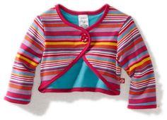Zutano Baby-girls Infant Multi Stripe Shrug $28.00