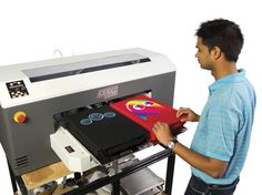 DTG M2 Garment Printer | We purchased this Digital T-Shirt printer. #dtg #shirtprinting #printer #printing
