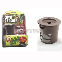 zjskin Cheap 3 Clever Coffee Capsule Reusable Filter   Scoop for Keurig Brewing System *** Learn more by visiting the image link.