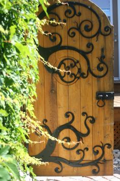 Whimsical Garden Gate by Thak Ironworks Inc