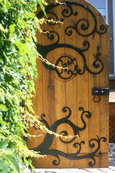 Whimsical Garden Gate by Thak Ironworks Inc