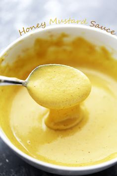 This easy homemade Honey Mustard Sauce recipe only needs 6 ingredients! You're only a few minutes away from making your favorite dipping sauce at home! Mustard Recipe, Honey Mustard Sauce, Honey Mustard Dressing, Hummus, Pesto, Sauce Recipes, Cooking Recipes, Vegetarian Recipes, Cooking Tips