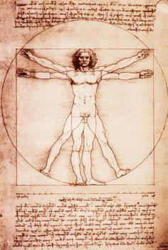 Hombre de Vitruvio Pósters por Leonardo da Vinci en AllPosters.es