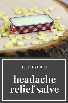 DIY headache relief salve or balm. This natural home remedy uses essential oils like peppermint, lavender, tea tree, and eucalyptus. Massage this salve on your neck or temples for quick relief. Natural Headache Remedies, Cold Home Remedies, Natural Health Remedies, Herbal Remedies, Natural Headache Relief, Cough Remedies For Adults, Essential Oils For Headaches, Wie Macht Man, Natural Healing