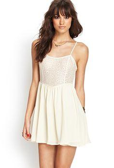 Floral Lace Cami Dress