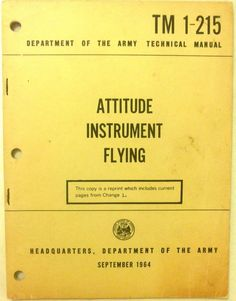 Military Book - Attitude Instrument Flying  - September 1964 - Paperback - Used