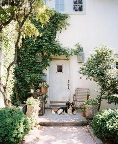 home exterior front door garden outside