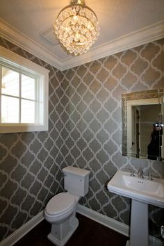 2012 Spring Parade Home - traditional - powder room - minneapolis - BohLand Homes  wallpaper ideas